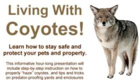 Living with Coyotes ~ Free Public Workshop